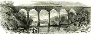 Lowther Viaduct, U.K., 1846, Opening of the Lancaster and Carlisle Railway in December