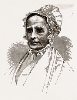LUCRETIA MOTT', 1880, 19th century engraving, USA, America