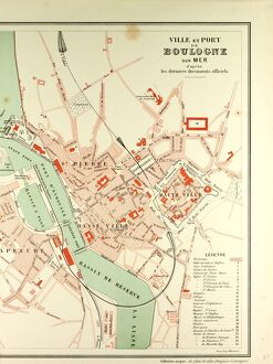 MAP OF BOULOGNE SUR MER