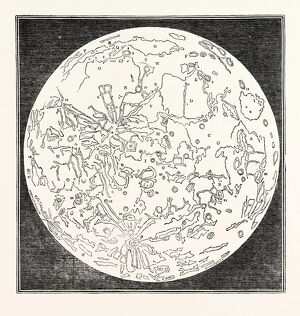 Map of the Moon, 1833