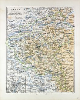 MAP OF POSEN (POZNAN), POLAND, 1899
