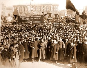 May 1st, 1918, The demonstration took place on Palace Square in