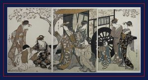 Mitate gosho-guruma] = [Parody of an imperial carriage scene], Kitagawa, Utamaro