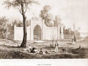 Mount Vernon tomb of Washington; c1849 May 24.; 1 print