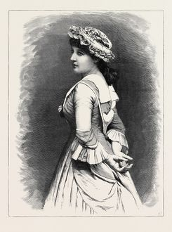 MRS. LANGTRY AS MISS HARDCASTLE IN 'SHE STOOPS TO CONQUER&quot