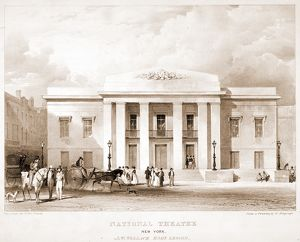National Theatre, New York. J.W. Wallack, Esqr., lessee / Day & Haghe, lith., 17 Gate St