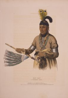 Naw-kaw, a Winnebago chief / drawn, printed & coloured at I