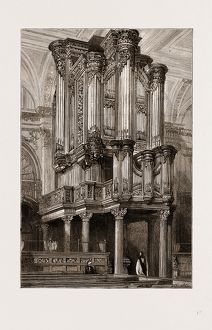 THE NEW ORGAN IN THE CHURCH OF ST. LAWRENCE JEWRY, GRESHAM STREET, LONDON, UK, 1875