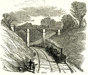 Newbiggin Bridge, U.K., 1846, opening of the Lancaster and Carlisle Railway