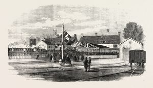 OPENING OF THE EXETER AND EXMOUTH RAILWAY: ARRIVAL OF THE FIRST TRAIN AT EXMOUTH