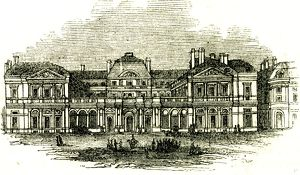 The Palais Royal, Paris, 19th century. France