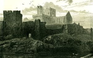 Peel Castle, Isle of Man, 1871