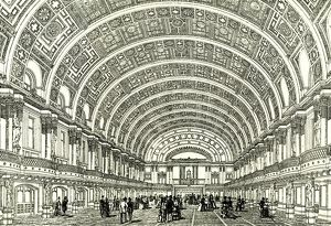 People's Palace, London, U.K., 1887, the Queen's hall opened by Her Majesty