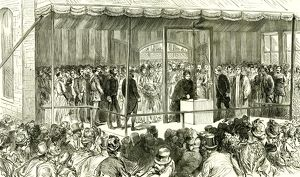 The People's Palace, London, U.K., 1887, Her Majesty laying the first stone of