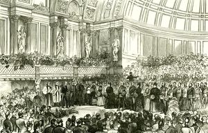 The People's Palace, London, U.K., 1887, Her Majesty opening the Queen's Hall