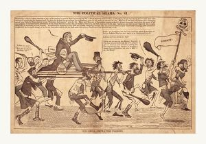 The political drama. No. 61. Old grill among the paddies, en sanguine engraving 1832?