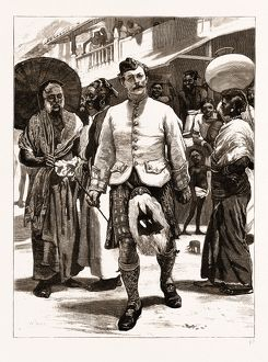 THE PRINCE OF WALES IN CEYLON, SRI LANKA, 1876: THE PRINCE'S HIGHLAND PIPER