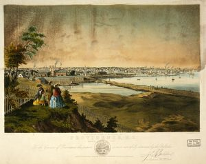 Providence, R.I., harbor view, taken from the grounds of Geo. W. Rhodes, Esq. / J