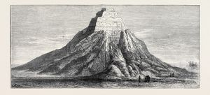 THE PYRAMID OF MEYDOON, OPENED BY PROFESSOR MASPERO, DECEMBER 13, 1881, VIEW FROM