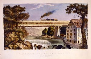 Railroad bridge over the Wissahickon near Manayunk; [no date recorded on shelflist