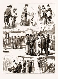 RECEPTION OF THE PRINCE OF WALES AT PORTSMOUTH, UK, 1876: NOTES ON THE JETTY