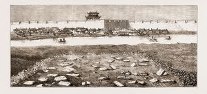 REMAINS OF THE BRITISH MILITARY CEMETERY AT TIENTSIN, PEIHO RIVER, CHINA, 1876