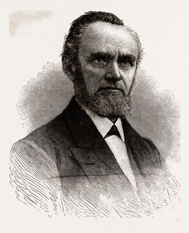 THE REV. CHARLES S. BROWN', 1880, 19th century engraving, USA, America