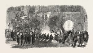 THE REVOLUTION IN FRANCE: LA CONCIERGERIE, BIVOUAC OF TROOPS, 1851