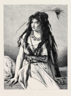 'ROSA, A GIPSY GIRL' FROM A DRAWING BY J.F. PORTAELS