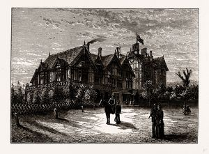 ROYAL FOREST HOTEL, CHINGFORD, UK, engraving 1881 - 1884