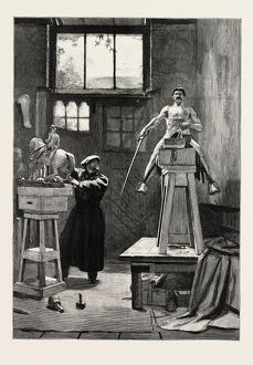 SCULPTOR' STUDIO, engraving 1884