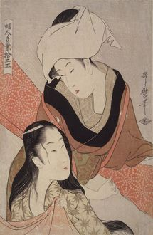 Shinshi-bari] = [Cloth-stretcher], Kitagawa, Utamaro (1753?-1806), (Artist), Date Created