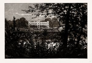 SION HOUSE, FROM THE SOUTH, UK, engraving 1881 - 1884