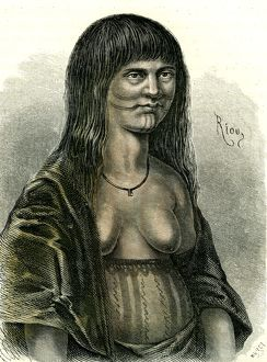 Sipibo woman, Peru, 1869