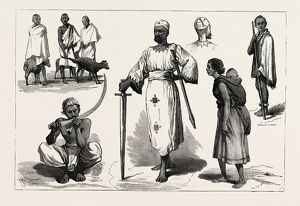 SKETCHES IN ABYSSINIA, engraving 1884