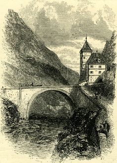 ST. MAURICE, Switzerland, engraving; 19 C