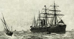 Steam Ship Ormuz, Australia to England, 1887, eleven thousend miles within twenty-seven