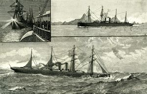 Steam Ship Ormuz, Australia to England, 1887, on the voyage from Australia, In the