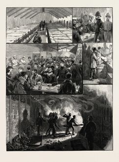 The strikes at the South Metropolitan Gas Company's Works, Vauxhall London UK, 1889