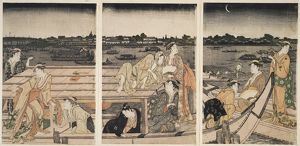 Sumidagawa funa-asobi] = [Pleasure-boating on the Sumida River], Kitagawa, Utamaro