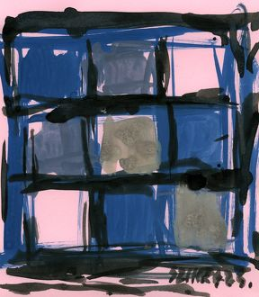 Susan Szikra, Blue impression abstract expressionism, Poetic mind, a journey through