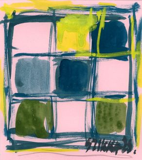Susan Szikra, yellow and blue, abstract expressionism