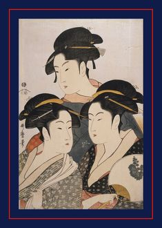 TA'AAŽji san bijin] = [Three beauties of the present day], Kitagawa, Utamaro