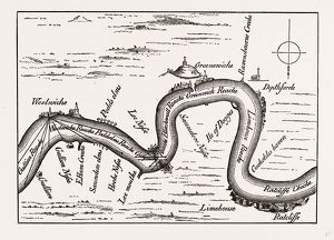 THE THAMES, FROM RATCLIFFE TO WOOLWICH IN 1588, UK