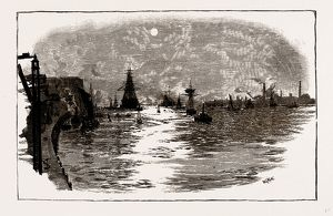 "THE THAMESa€""WOOLWICH REACH, UK, engraving 1881 - 1884"