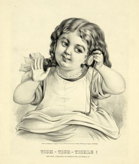 Tick--tick--tickle!; Currier & Ives.,; New York : Published by Currier & Ives, c1873