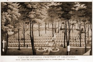 View of National Cemetery at Arlington; c1870.; 1 print