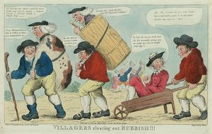 Villagers clearing out rubbish!!! engrav'd by Hixon, London, engraving 1800