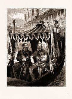 VISIT OF THE EMPEROR OF AUSTRIA TO THE KING OF ITALY AT VENICE, THE HOST AND HIS GUEST