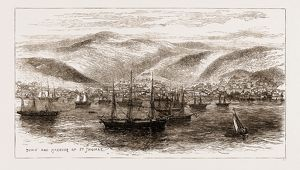 A VISIT TO THE WEST INDIES, 1876: TOWN AND HARBOUR OF ST. THOMAS